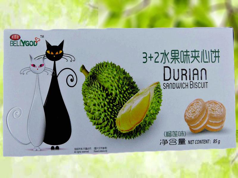 3+2水果夹心饼(榴莲味)