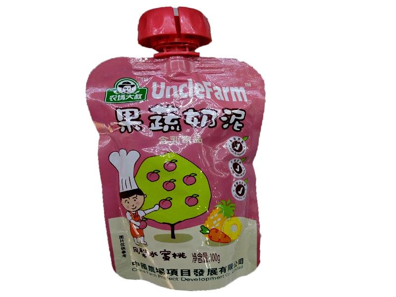 农场大叔果蔬泥100g(凤梨水蜜桃)