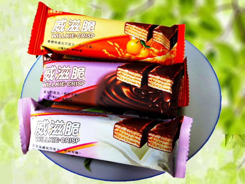 威滋脆威化巧克力(香橙味 椰子味 奶油味 奶香味 巧克力味)