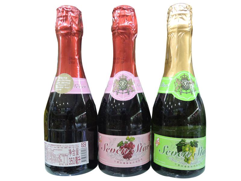 七星香槟350ml(白葡萄、红葡萄)