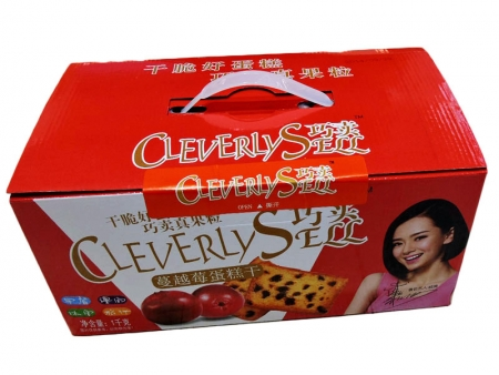 巧卖蔓越莓蛋糕干  外箱