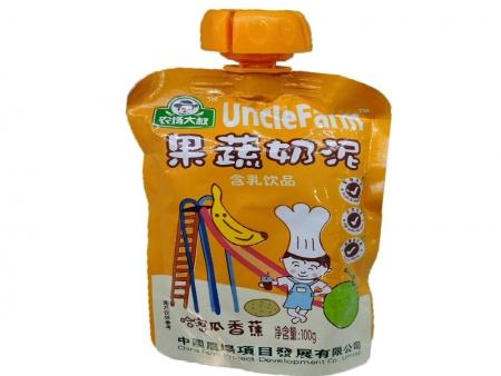 农场大叔果蔬泥100g(哈密瓜香蕉)